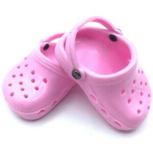 18 inch Girl Doll Clothes Shoes Polliwog Sandal Light Pink Clog American seller
