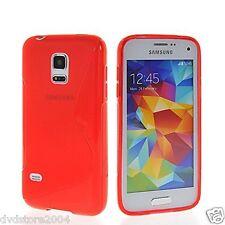 Custodia cover case gomma WAVE ROSSA per Samsung Galaxy S5 mini G800
