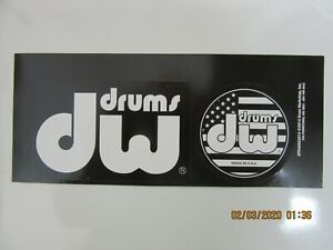 DW DRUM WORKSHOP DECAL CASE RACK BUMPER STICKERS 2 STICKERS ONE SHEET NEW RARE