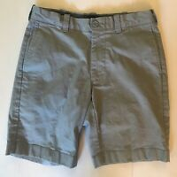 J. Crew Flex Chino Shorts Men's Sz 29 Gray Flat Front Stretch Style #F0598