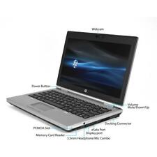 "HP EliteBook 2570p 12.5"" Portátil Intel Core i7 3520m 4gb RAM 120SSD W10 WEBCAM"