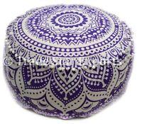 Bohemian Mandala Ottoman Pouf Cover Decorative Footstool Seating Pouffe Case