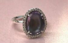 PANDORA   Glamorous Legacy Purple Amethyst Ring 190893AM Retired RARE 925