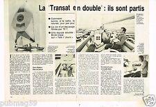 Coupure de presse Clipping 1979 (2 pages) Transat en Double ils sont partis