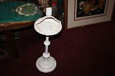 Antique Floor Standing Ashtray-Cigar Cigarette Ashtray-White-Matchbook Holder