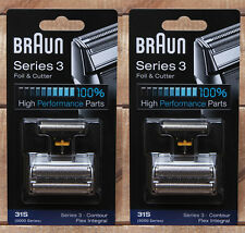 31S 2Packs Braun Series 3 Shaver 6312 6510 6512 5884 5885 370 5510 5515 5520