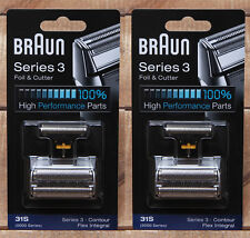 31S 2Packs Braun 5000 6000 Series 3 Foil Cutter 5895 5897 6525 6550 370cc