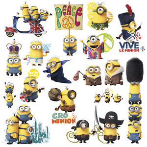 16 MINIONS WALL DECALS Despicable Me Stickers Kids Room Decor