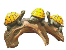 Solar Powered Turtles on Log Garden Decorations , Outdoor Accent Lighting LED