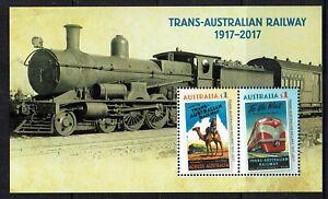 AUSTRALIA 2017 TRANS-AUSTRALIAN RAILWAY  MINIATURE SHEET - SG# MS3493 MNH