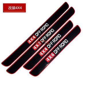 Auto Accessories Rubber Car Door Sill Guards Scuff Plate Protector Trim Sticker