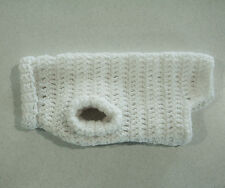 Crochet Off White Dog Sweater for X-Small Pet
