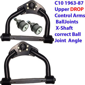 L 1963-1987 CHEVY C10 COIL DROP LOWERED upper arms,Balljoints  Xshaft