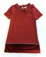 Miss Mona Mouse Girl's Knitted Dress Red with Jeweled Details - 3-4 Years (BC09)