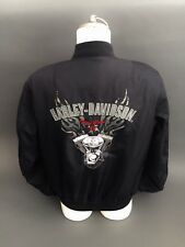 Harley Davidson TWIN CAM 88 Bomber jacket biker nylon size Medium M Black