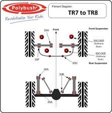 Poly Bush Triumph TR7 TR8,  Front Polybush Kit no 31