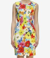 Women's NWT Love Moschino multicolor floral sleeveless dress size 8