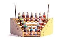 Mesa rack Soporte de 25 pinturas modelismo Vallejo  esquina 90º  Warhammer
