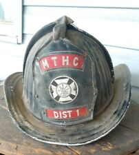 Cairns And Brother Inc Metal Fire Helmet With Leather Shield Mthc District 1