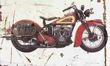Indian Sport Scout 1939 Aged Vintage SIGN A3 LARGE Retro