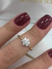 18CT YELLOW GOLD 0.25CT DIAMOND FANCY DAISY FLOWER RING LGJ7