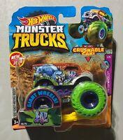 2020 Hot Wheels Monster Trucks Bad Cattitude w/ Green Tinted Wheels VHTF