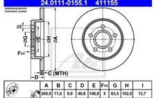 ATE Juego de 2 discos freno Trasero 265mm para FORD FOCUS C-MAX 24.0111-0155.1