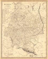 Rusia Ucrania. Europa Oriental. Belarús Baltics Finlandia Georgia. Sduk 1848 Mapa