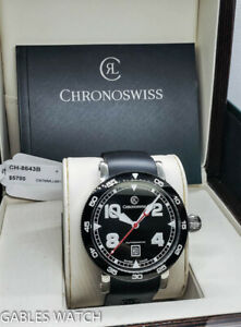 CHRONOSWISS TIME MASTER DATE CH8643B 44MM AUTOMATIC WATCH WITH BOX & PAPERS