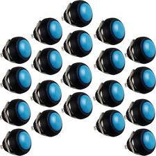 20 X 12mm Blue Mini Round Toggle Switch Momentary Push Button Switch