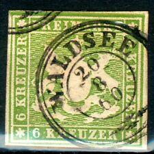 Württemberg, Mi.-Nr.13ao,Doppelkreis WALDSEE, luxus