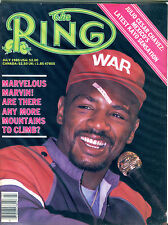 The Ring Boxing Magazine July 1985 Marvin Hagler EX 060616jhe