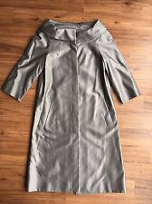 NEW L.K.BENNET SILVER SILK AND COTTON COAT JACKET MOTHER OF THE BRIDE SIZE 8