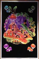 Mushroom Elf Liquid Blue Blacklight Poster