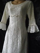 Vintage Wedding Dress Victorian Edwardian 20's 60's 70's Lace 4 6 32 34 US 0 2