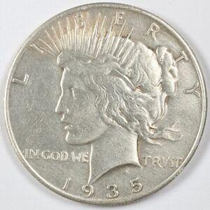 1935 Peace Silver Dollar 190244B