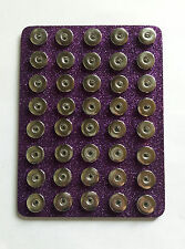 Purple Glitter 40 Snap Base Holder Keeper 18mm 20mm Jewelry Organizer Chunk
