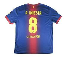 Barcelona 2012-13 Authentic Home Shirt Iniesta #8 (Excellent) XL