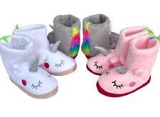 EINHORN Hausschuhe Boots warme Schuhe f. Mädchen Kinder Puschen Pantoffeln 24-41
