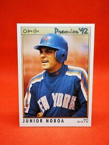 O-PEE-CHEE 1992 carte card Baseball MLB NM+/M New York Mets #187 Junior Noboa