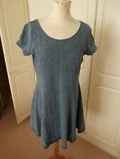 Ladies blue New Look denim style dress size 16