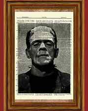 Bride of Frankenstein Dictionary Art Print Poster Boris Karloff Picture
