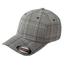 FLEXFIT Structured CHECK PLAID Golf Hat FITTED S/M L/XL Sport Baseball Cap 6196