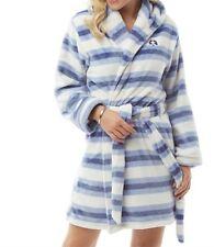 Bedroom Athletics Amelia Fleece Dressing Gown - Kentucky Blue- Size XS (UK 8)