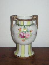 NORITAKE TWIN HANDLED VASE FLOWERS