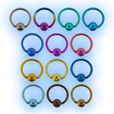 1.6mm Titanium BCR Ball Closure Ring Grade 23 Captive Bead CBR 14 gauge piercing