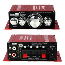 Stereo 2CH Hi-Fi Stereo Amplifier Booster MP3 Speaker For Car DVD Mini Moto NEW