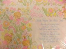 "Vintage Baby ""Thank Heaven for Little Girls"" Bright Colors 2 Sheets Gift Wrap"