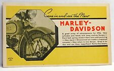 1936 HARLEY DAVIDSON Motorcycle Dealer promotional advertising postcard UNUSED *