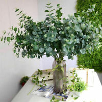 Artificial Fake Leaf Eucalyptus Green Plant Silk Flowers Nordic Home Decor S8